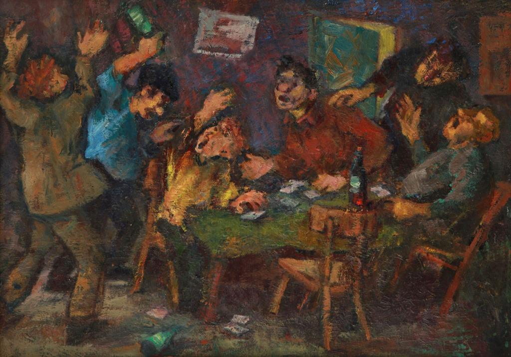 картина Абрама Моносзона «Игра в карты», созданная автором в 1962 году
